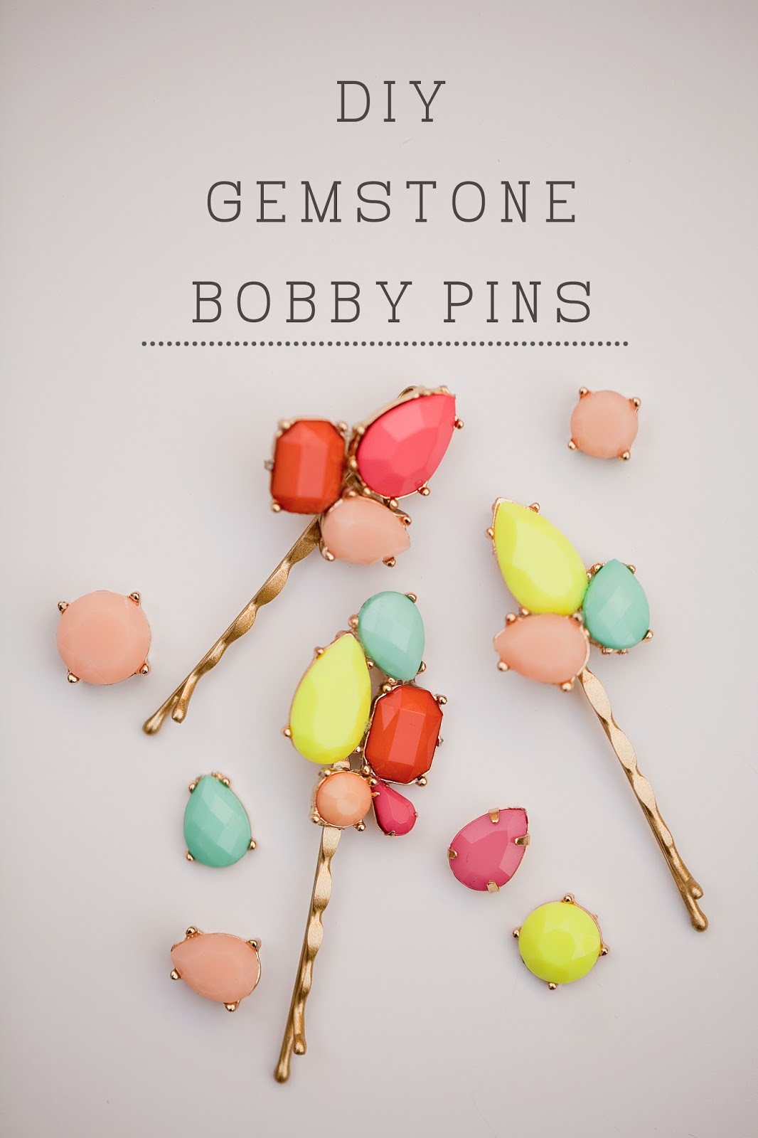 Tell Diy Gemstone Bobby Pins