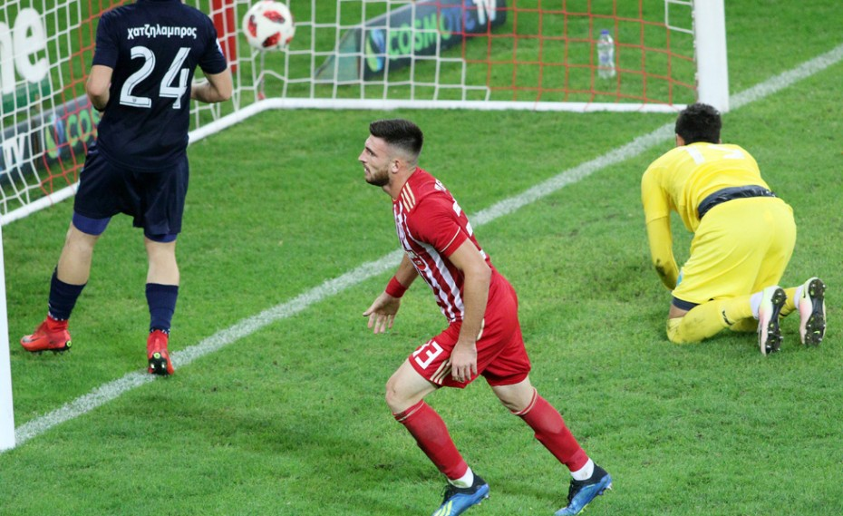 f2364c052c Το πρώτο του γκολ με τη φανέλα του Ολυμπιακού πέτυχε ο Δημήτρης Μάνος στο  ματς του κυπέλλου κόντρα στον Λεβαδειακό όταν στο 68  αξιοποίησε με τον  καλύτερο ...