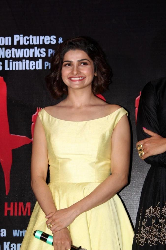 Beautiful Surat Girl Prachi Desai Long Legs Show Stills In Yellow Skirt