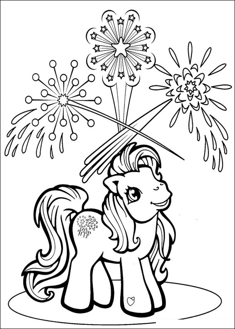 Marginalpost Fireworks And Pony Coloring Pages