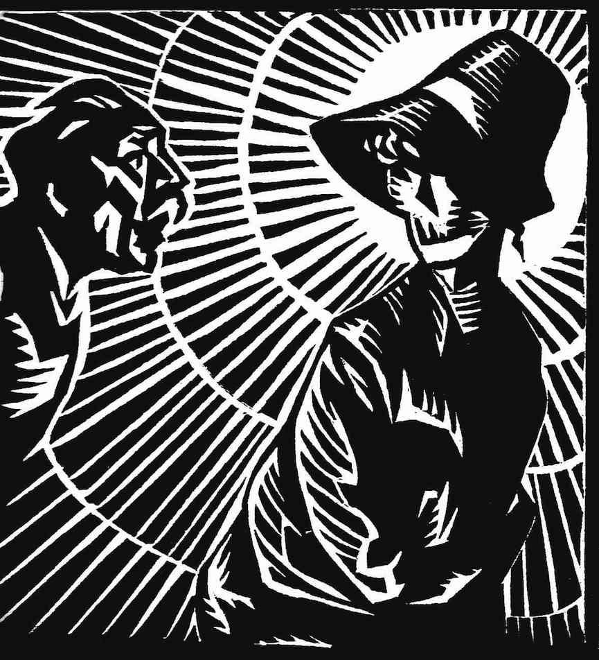 Rene Georges Hermann-Paul, a 1919 woodcut of death