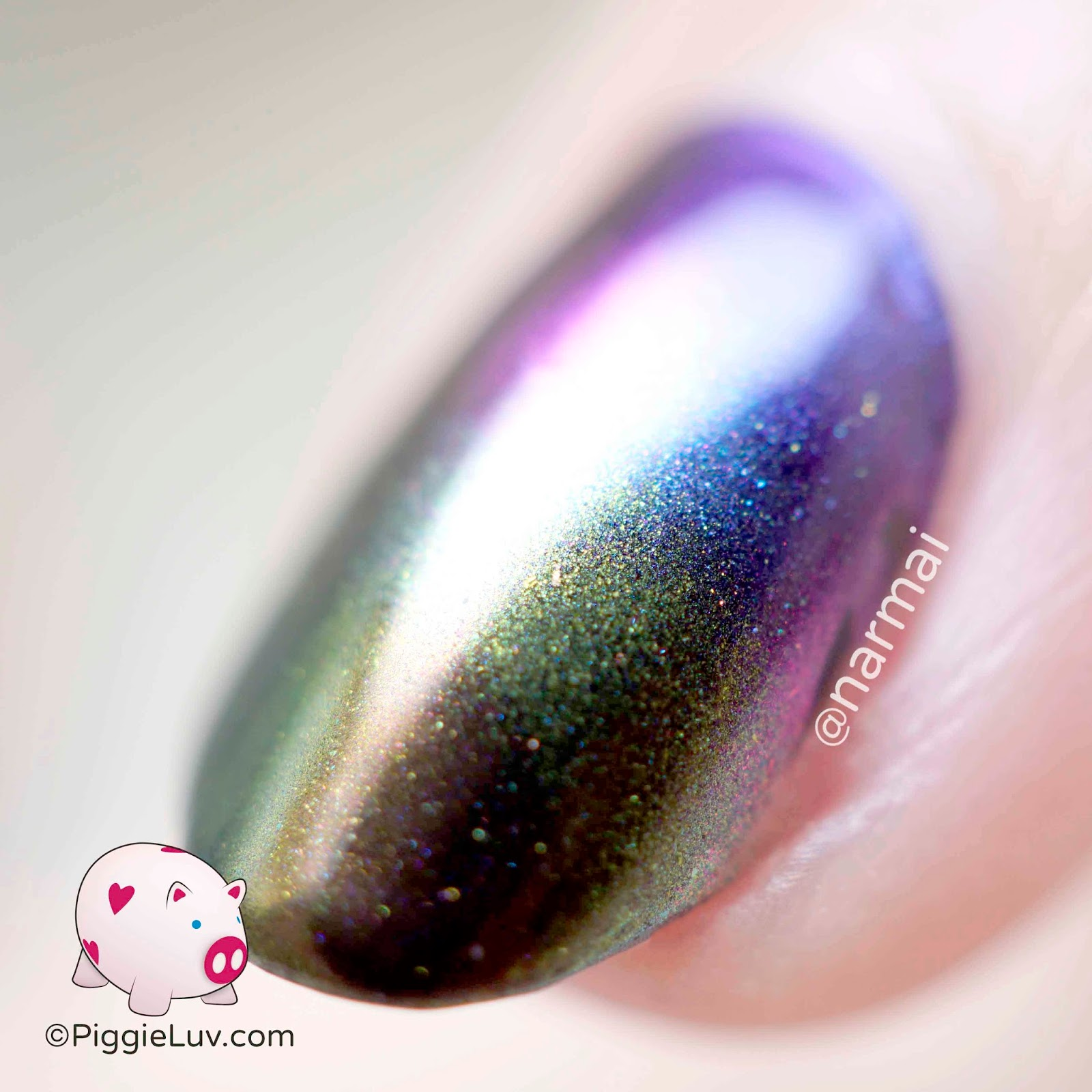 Piggieluv Rainbow Bubbles Nail Art: PiggieLuv: Rainbow Gasoline Nail Art With Magic Shifting