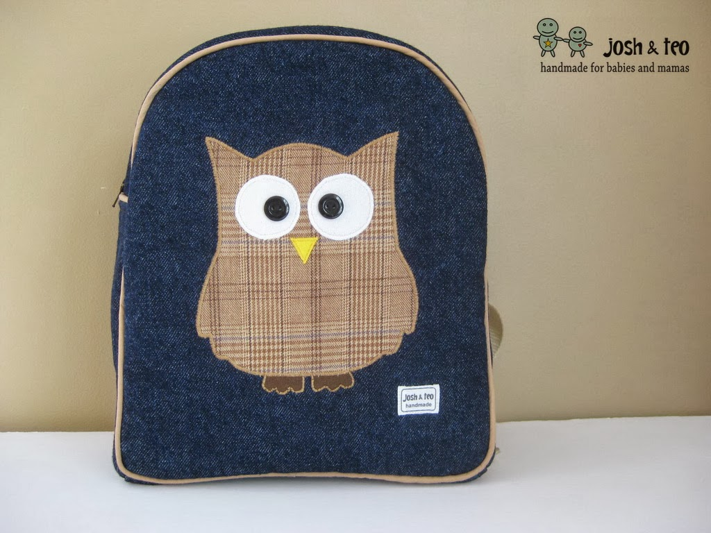 a0154a33d9 My Handmade Home  Plaid Owl Toddler Backpack