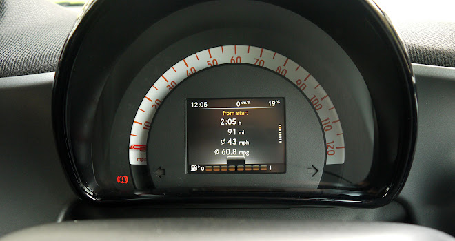 Smart ForTwo Cabrio instrument panel