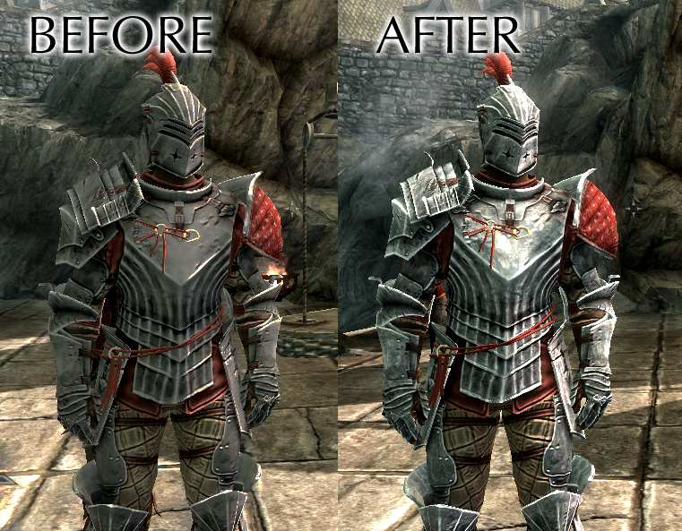 My Skyrim Mods: Stone Hammer Armor - Metal Texture Fix