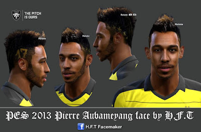 PES 2013 Aubameyang face by H.F.T