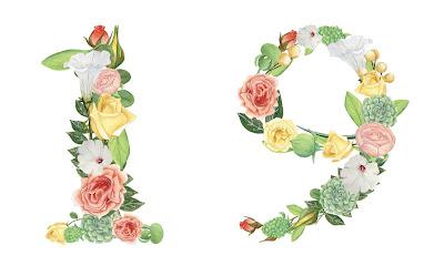 A floral number 19