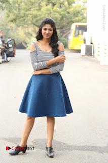 Telugu Actress Roshini Prakash Stills Short Dress at Saptagiri Express Release Press Meet  0241.JPG