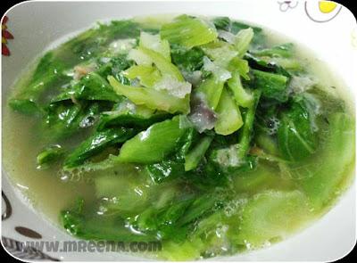 Resepi Sawi Pahit Cina Dan Sup Ikan Pelayak