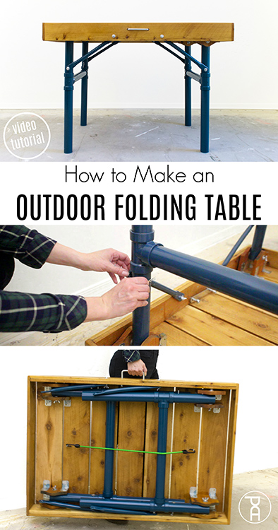 how to make build easy lightweight folding wood outdoor table bench video