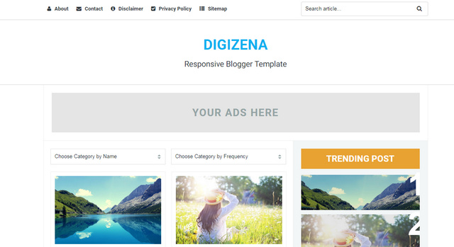Digizena Responsive Blogger Templates