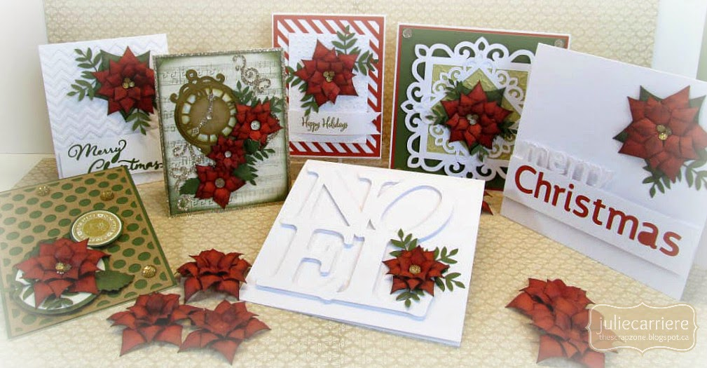 Christmas Poinsettia Cards