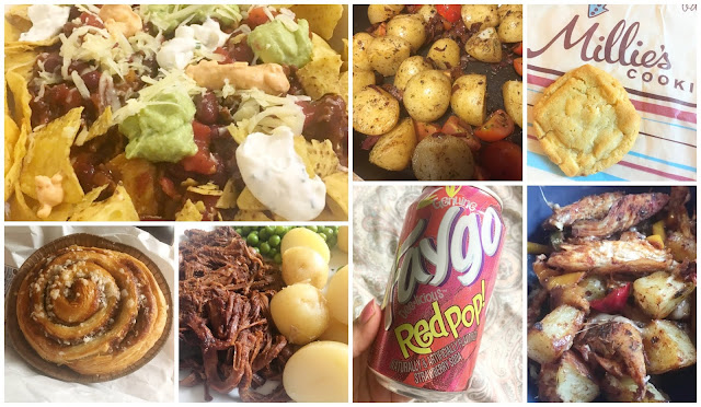 Food I Have Been Loving This Week including Millies Cookies, M&S Bakery, Chilli cheese nachos, pulled beef and Red Pop