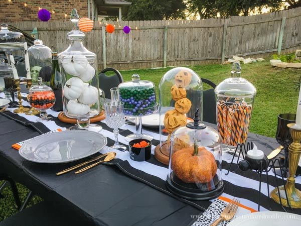 Gorgeous Halloween Outdoor Dinner Party!  Complete with an over the top tablescape!  |  mynameissnickerdoodle.com