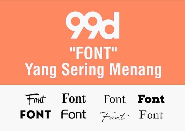 Font Yang Sering Menang di 99designs