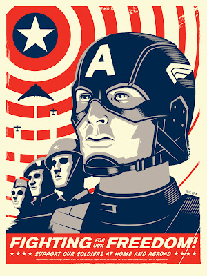 San Diego Comic-Con 2011 Exclusive Captain America: The First Avenger Mondo Screen Print Series by Eric Tan - Captain America