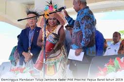 Dominggus Mandacan Tutup Jambore Kader PKK Tingkat Provinsi Papua Barat tahun 2019