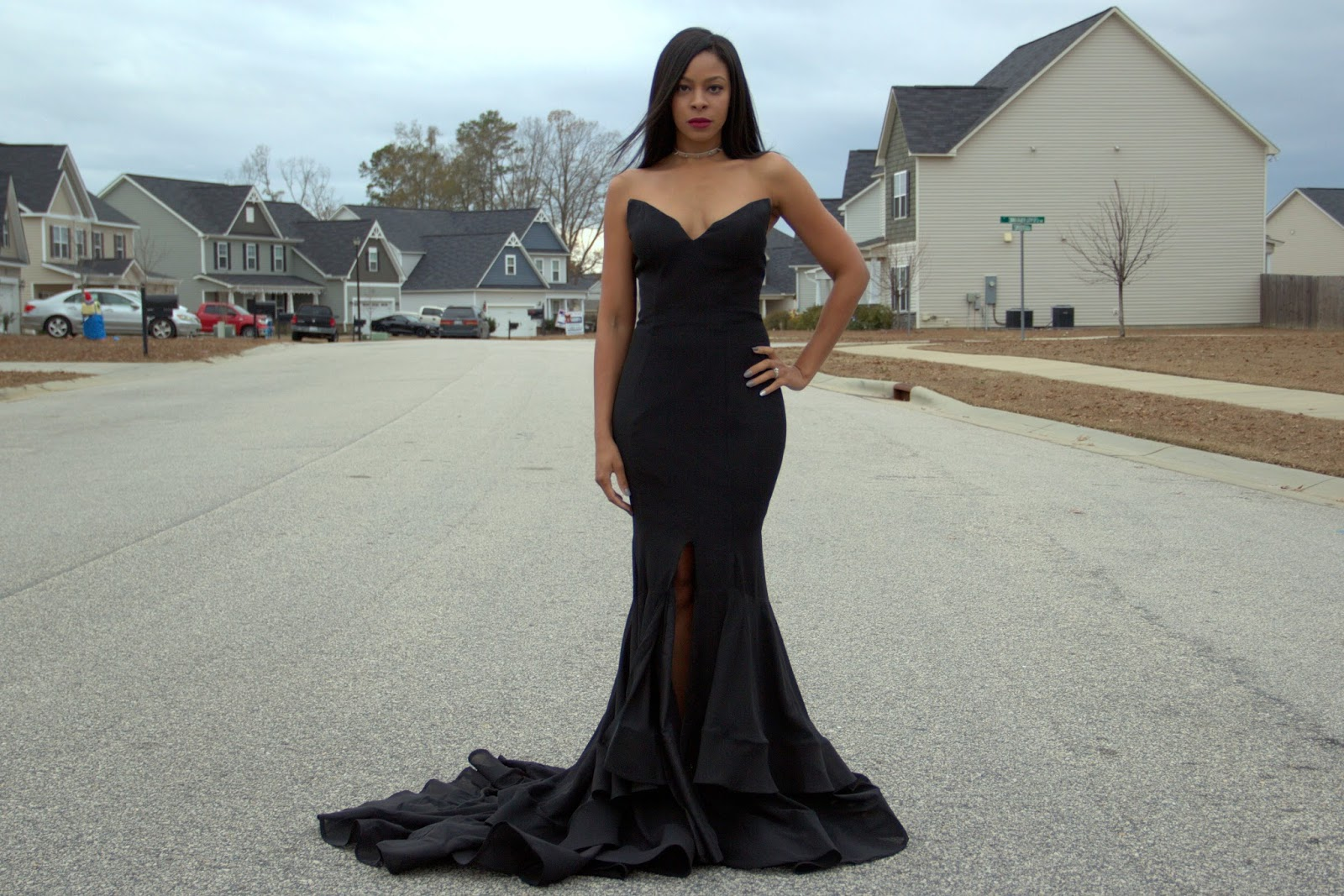 edgy prom look, mermaid gown, affordable military ball gown, light in the box gown