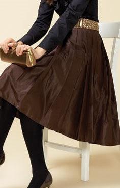 93694ba7c Falda plisada desde la cintura