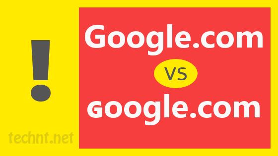 تحذير!! رابط خطير شبيه برابط محرك البحث جوجل لا ينصح الدخول إليه - التقنية نت - technt.net