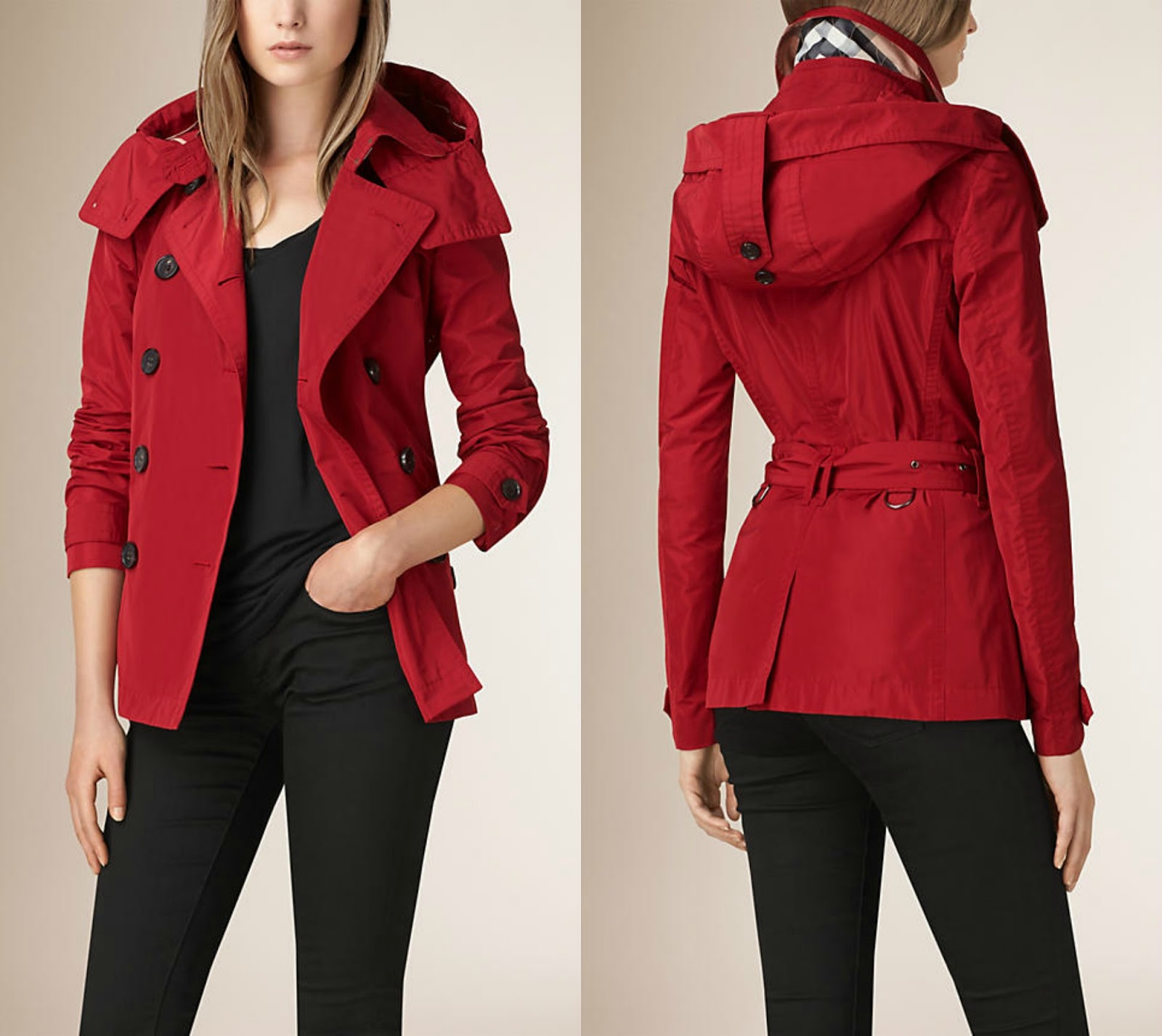 Burberry Short Showerproof Trench Coat