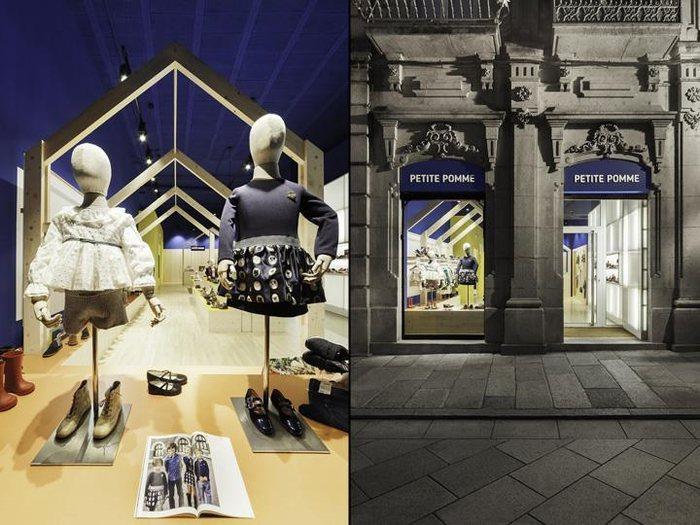 thiết kế ngoại thất và khu vực trưng bày
