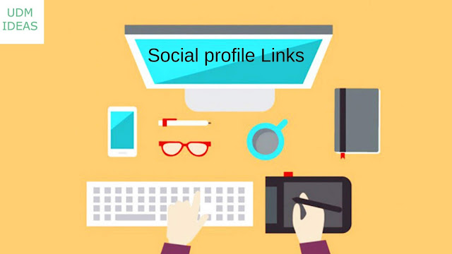 Create Social profile Links
