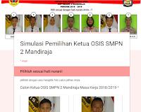 Smp Negeri 2 Mandiraja Simulasi Pemilihan Ketua Osis Online