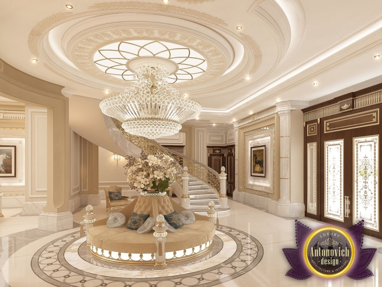 Luxury antonovich design uae villa design in abu dhabi for Villa interior design living room