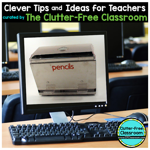 Are you wondering how to store extra pencils in the classroom? This teacher tip from the Clutter-Free Classroom shows teachers a clever way to store pencils.