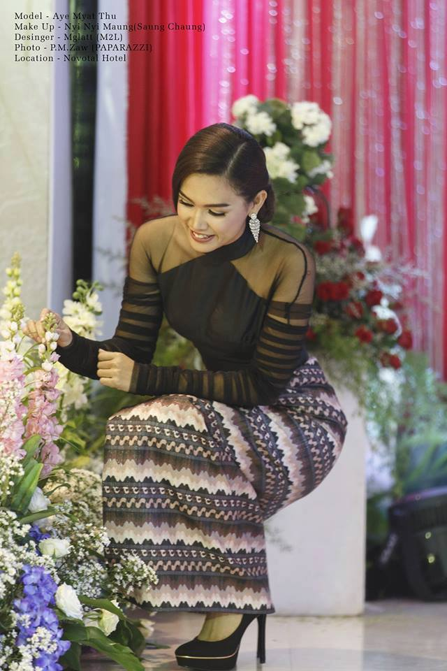 Aye Myat Thu Myanmar Outfit Fashion Photos