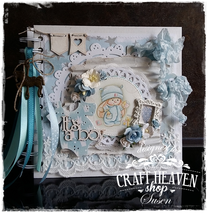 Craft heaven shop inspirational blog a baby album our amazing dt susen put a lot of time and effort into making this stunning baby album now make yourself comfortable and enjoy all these shots of her solutioingenieria Gallery