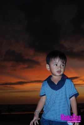 sunset tanjung aru