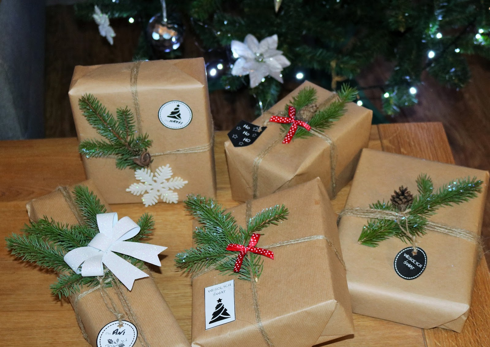 pomysł na pakowanie prezentów ładnie i tanio
