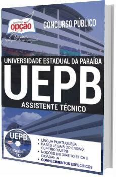 Apostila Concurso UEPB 2017 Assistente Técnico