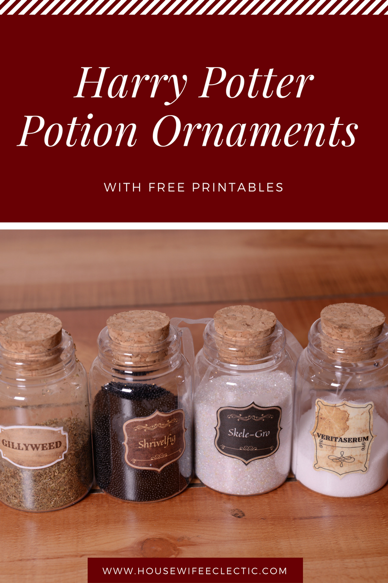 photo regarding Harry Potter Potion Book Printable identified as Harry Potter Potion Ornaments with Totally free Printables