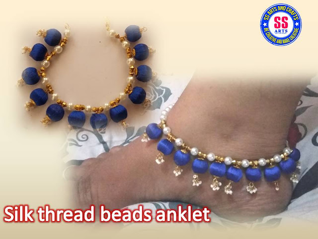 Here is silk thread jewellery making at home,silk thread beads ankletes,silk thread designer anklets,silk thread necklace making at home,silk thread choker making,silk thread stones anklets making tutorial,how to make silk thread bridal anklets making at home