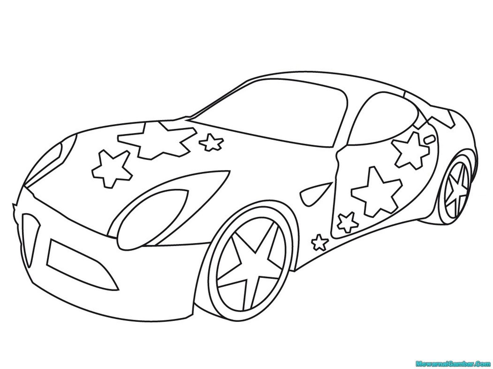 Mewarnai Gambar Mobil Balap U2013 Modifikasi Sepeda Motor