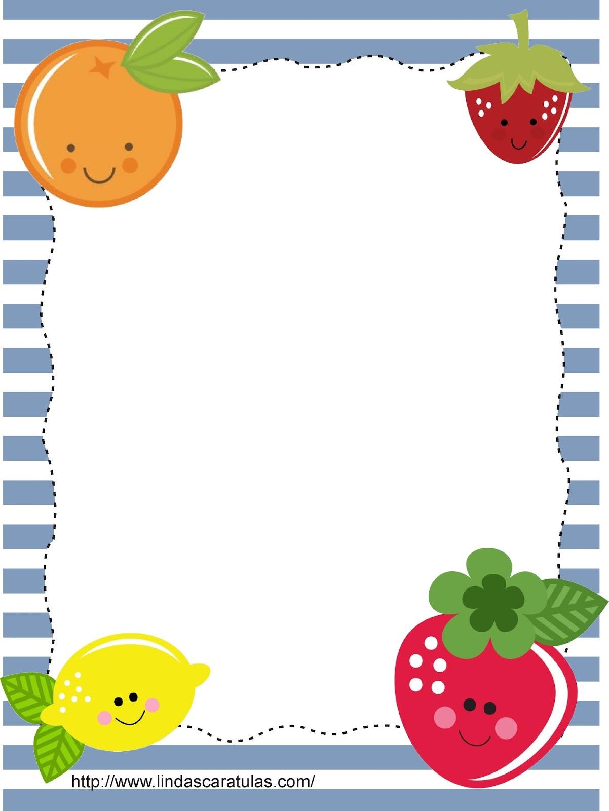 Lindas caratulas caratulas frutas for Comedor de frutas para bebe