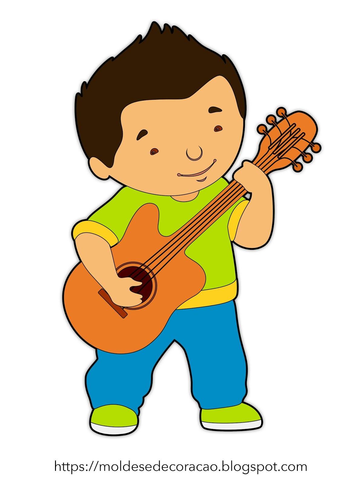 Artes Crianca Tocando Violao