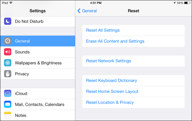 Eseguire un reset di fabbrica iphone e iPad