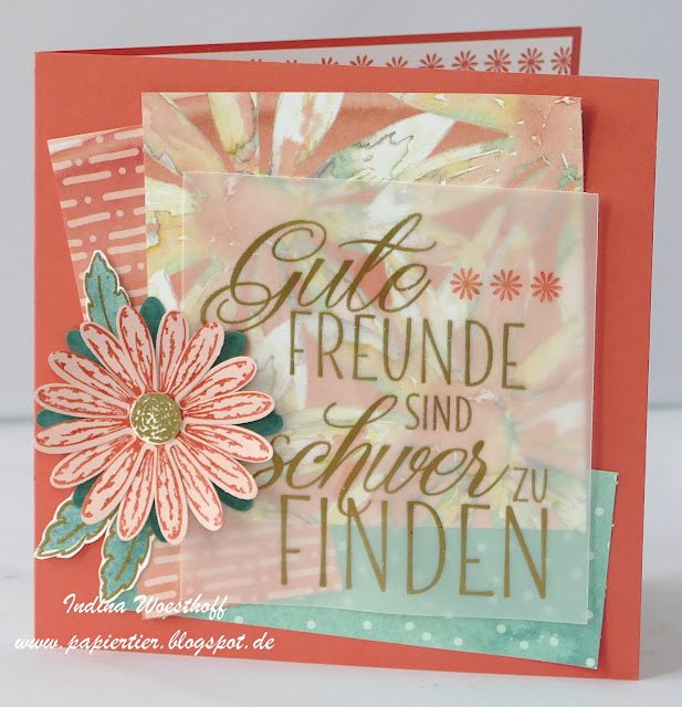 Gänseblümchen | papiertier Indina | Stampin' Up! 2017/18 | Für Freunde | Quadratkarte |