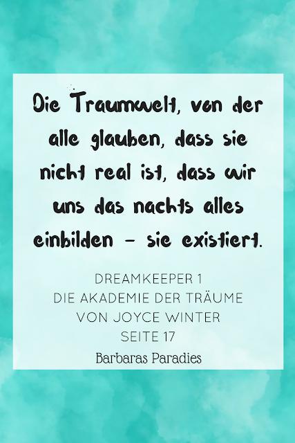 Buchrezension #196 Dreamkeeper 1 Die Akademie der Träume von Joyce Winter