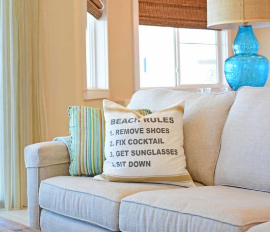 Beach Rules Pillow