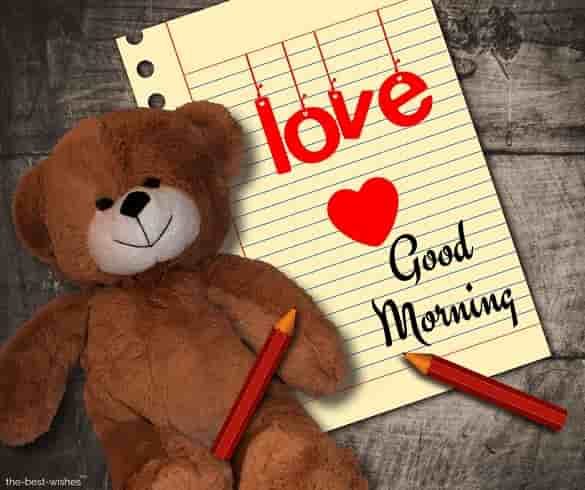images of good morning for girlfriend with teddy