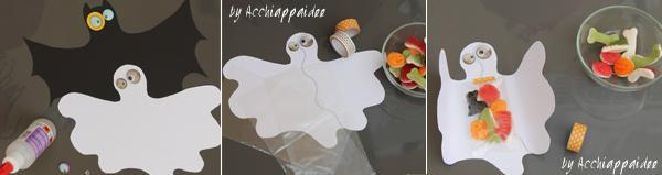 pipistrello fantasma con caramelle