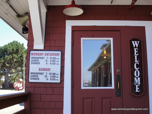 front door of Samoa Cookhouse in Eureka, California