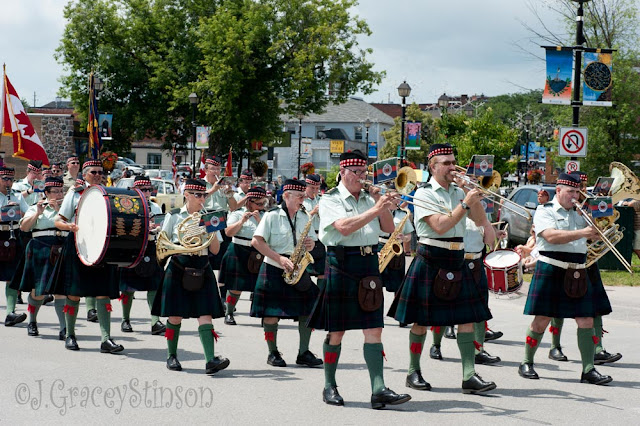 Another kilted pipe and drum band at the 2015 Scottish Festival in Orillia