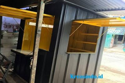 Warung Gerobak Besi Semi Container siap menerima pesanan di Bekasi dan sekitarnya