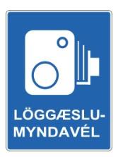 Cartel de tráfico avisando de la presencia de cámaras de seguridad